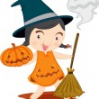 Stock Vector: Witch