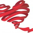 Royalty-Free Stock Imagem Vetorial: Heart and ribbon