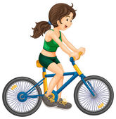 Cycling — Stock Vector
