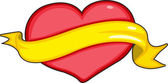 Heart and ribbon — Stock Vector