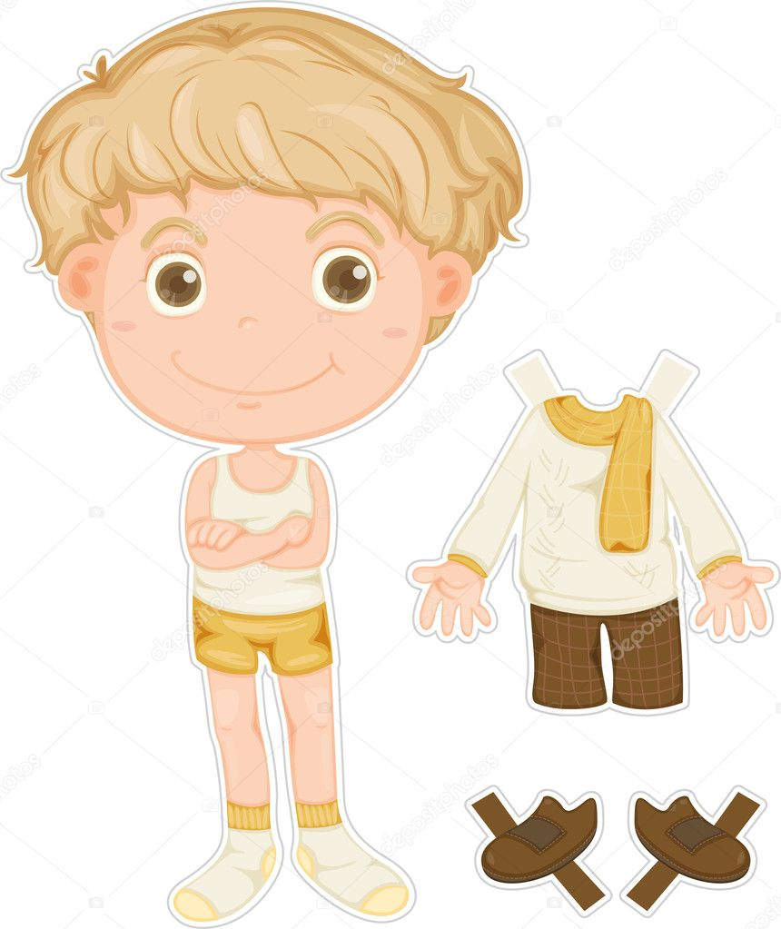 Illustration of a boy on white background — Stock Vector #9959988