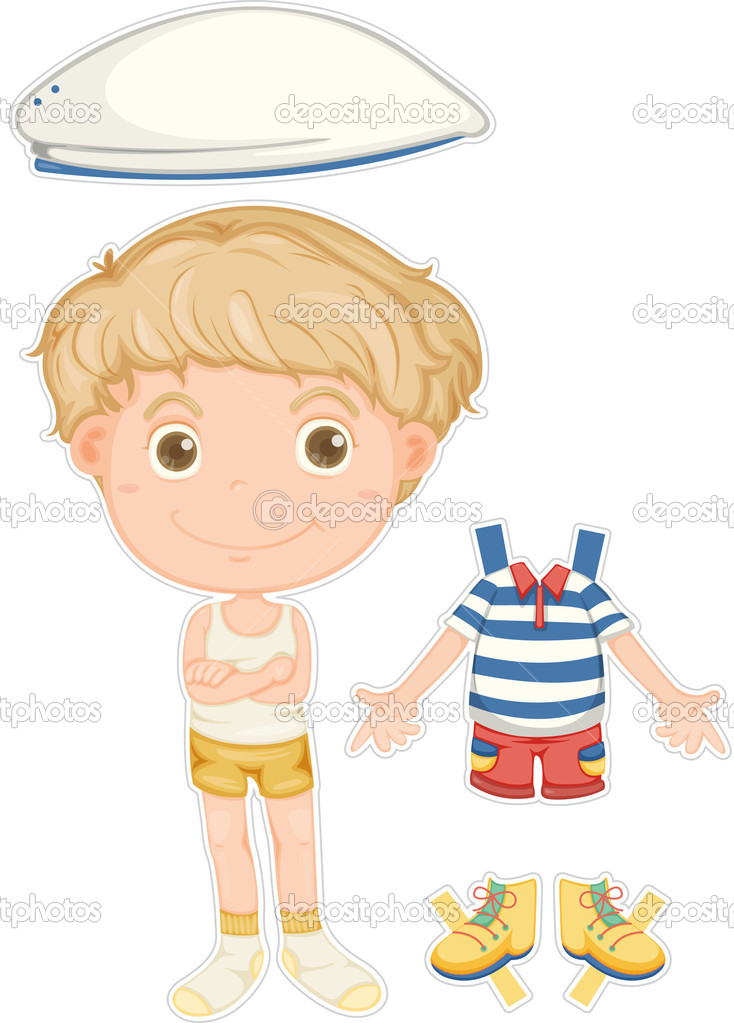 Illustration of a boy on white background — Stock Vector #9959989