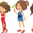 Royalty-Free Stock Vector Image: Girls