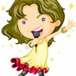 Singing Girl — Stock Vector #9960502