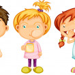 Boy & Girls - Stock Vector