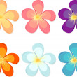 Flowers of different colours — Stock Vector