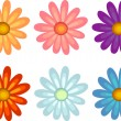 Flowers of different colours - Imagen vectorial