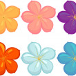 Flowers of different colours — Stock Vector #9960586