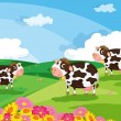 Royalty-Free Stock Vector Image: Three cows
