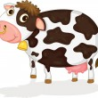 Stock Vector: A Cow