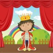 A Boy with a Crown — Stock Vector