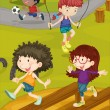 Kids on a Ground — Stock Vector #9961440