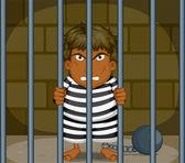 A Prisoner — Stock Vector