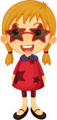A Girl with Sun Glasses — Stock Vector