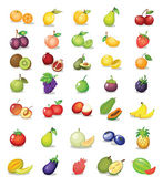 Mixed fruit — Stock Vector