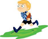 A Running Boy — Stock Vector