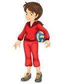 Sports girl — Stock Vector