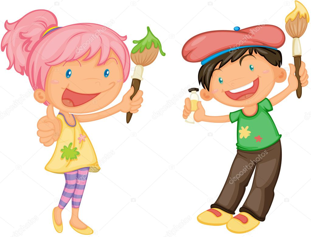 Illustration of a kids on a white background — Stock Vector #9960115