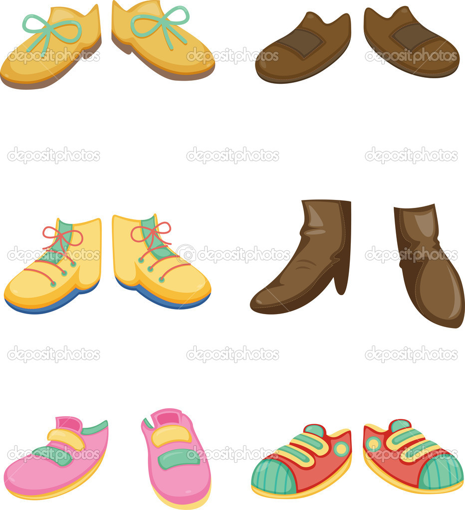 Illustration of a shoes on a white background — Stock Vector #9960180