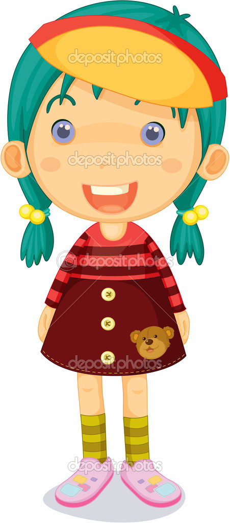 Illustration of a Girl on a white background — Stock Vector #9960723