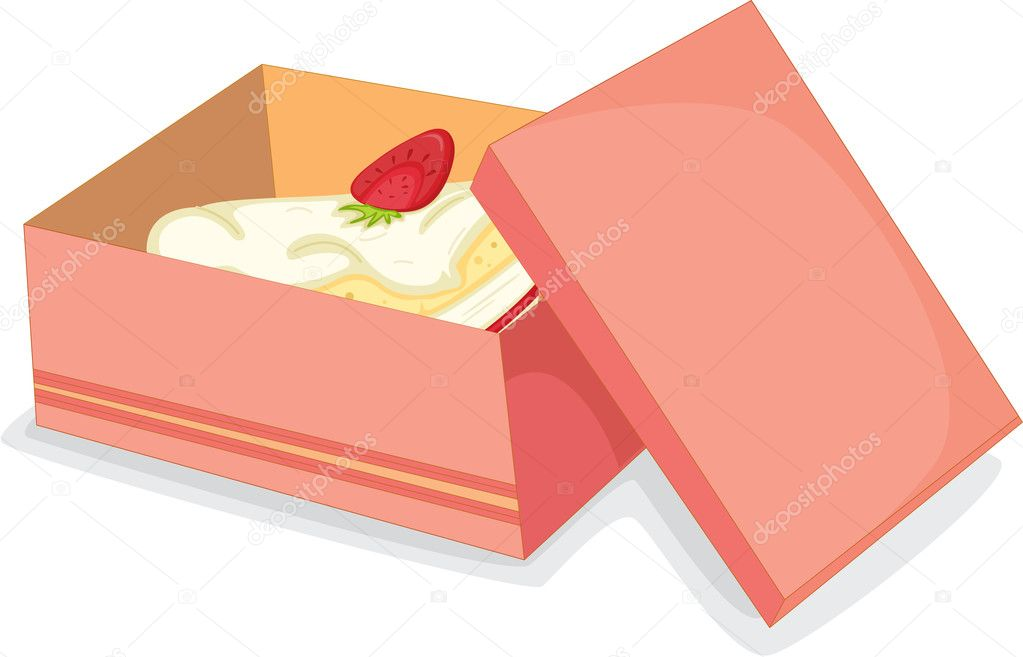 Illustration of a cake on a white background  Stock Vector #9960835