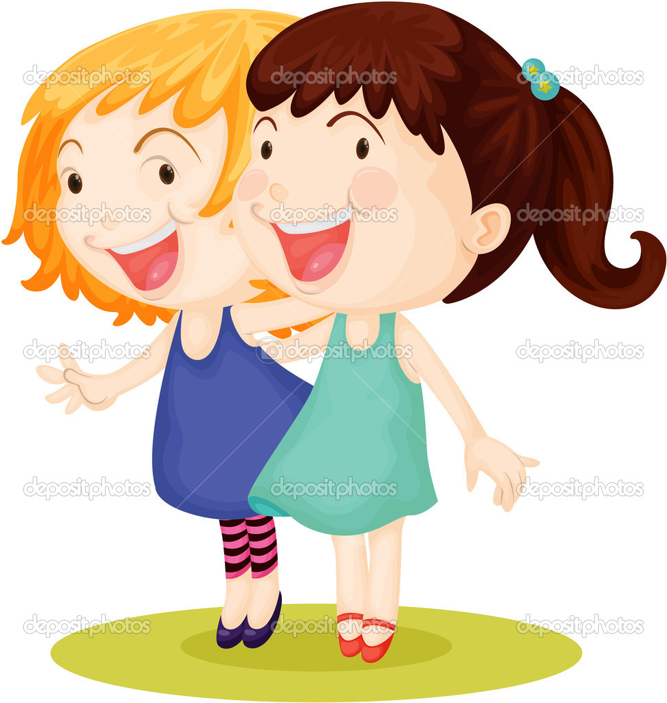 two girls stock vector interactimages 9961378