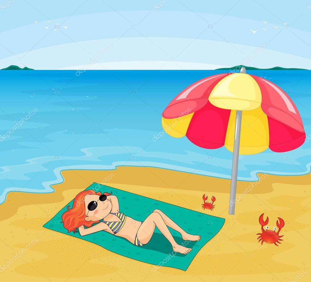 Как нарисовать на пляже людей в
