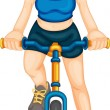 Fitness girl — Stock Vector