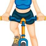 Fitness girl — Stock Vector #9993619