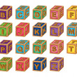 Alphabet cubes — Stock Vector
