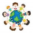 Kids around the world — Image vectorielle