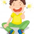Illustration of a boy on white — Stock Vector