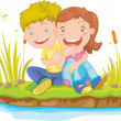 Royalty-Free Stock Vector Image: Girl and boy