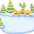 Frozen lake — Stock Vector #9994315