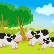 Stock Vector: Cows