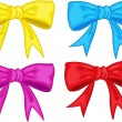 Постер, плакат: Clipart style cartoon of ribbons