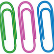 Stock Vector: Paper clips