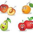 Fruit faces — Stock Vector #9995265