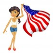 Stock Vector: Americwoman