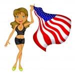 American woman — Stock Vector #9995290