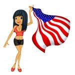 American woman — Stock Vector #9995292