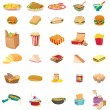 Mixed food - Stock Vector