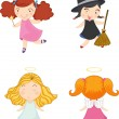 Girls — Stock Vector #9995506