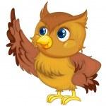 Illustration of an isolated owl cartoon — Stock Vector