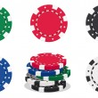 Casino chips — Stock Vector