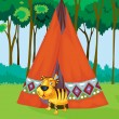 Royalty-Free Stock Vector Image: Tiger tent