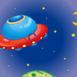 Royalty-Free Stock Vector Image: UFO spaceship