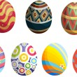 Decorative eggs — Imagen vectorial