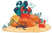 Animal illustration — Stock Vector