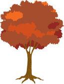Illustration of tree on white — Stock Vector